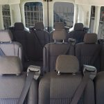 12 Passenger Ford Transit Medium Top Interior